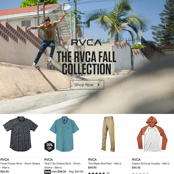 RVCA Men's Fall Collection